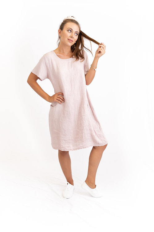 Me & Gee Cap-Sleeve Shift Dress