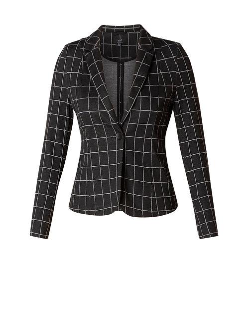 Yest Checkered Single Breasted Blazer