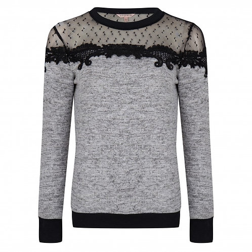Esqualo / Mesh Lace Sweater