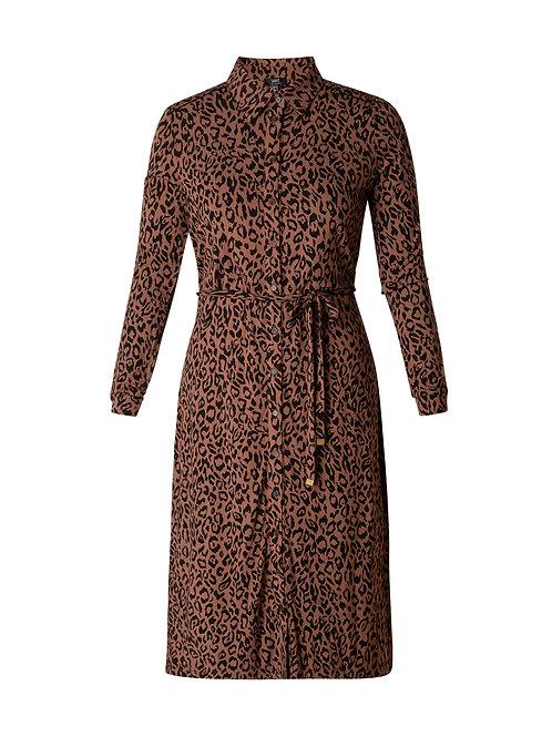 Yest Leopard Midi Dress