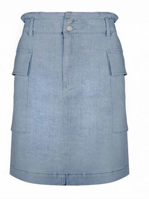 Esqualo Denim Paperbag Skirt