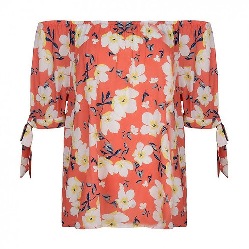 Esqualo / Knotted Flower Blouse