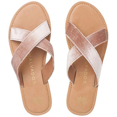 Malvados Icon Neko Plush Sandals in Pink