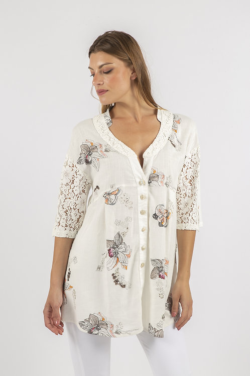 Elisa Cavaletti Blouse with Lace Features