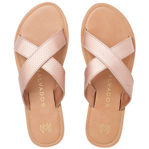 Malvados Icon Neko Reptile Sandals in Pink