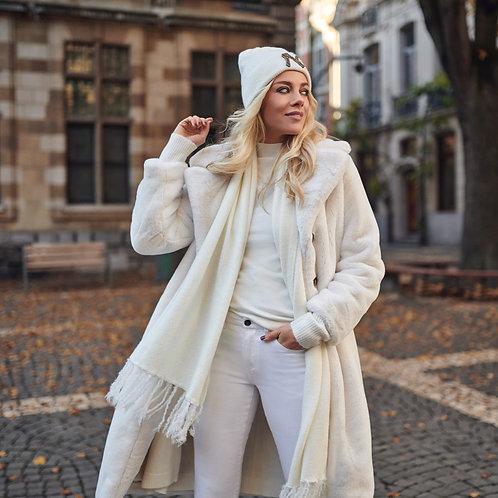 EsQualo Long Faux Fur Coat