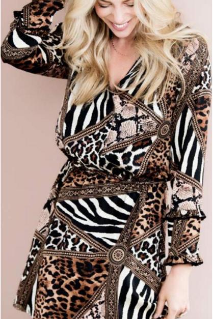 Esqualo Multi-Animal Print Dress