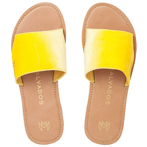Malvados Icon Taylor Plush Sandals in Yellow