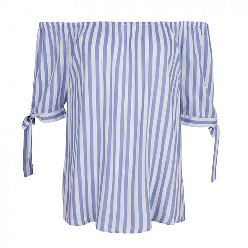 Esqualo / Striped Knotted Blouse