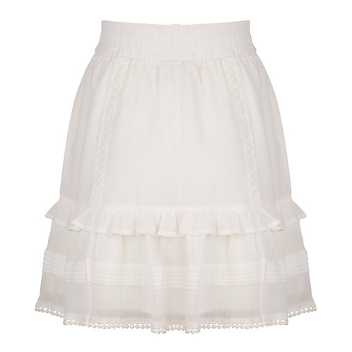 Esqualo Pintucks Lace Skirt