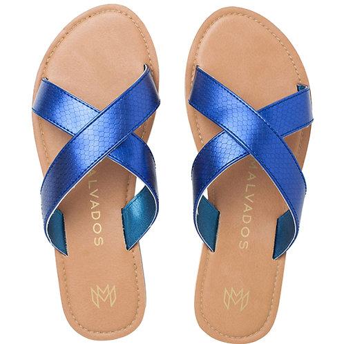 Malvados Icon Neko Reptile Sandals in Blue