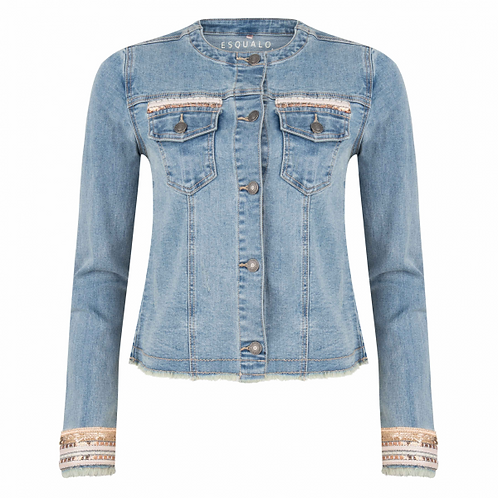 Esqualo / Embellished Jean Jacket