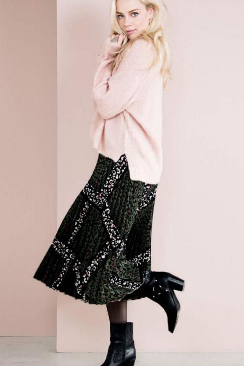 Esqualo Emerald Animal Print Skirt