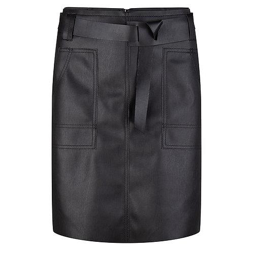 Esqualo Pleather Skirt With Waistbelt