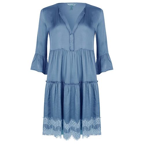 Esqualo Satin Dress with Lace
