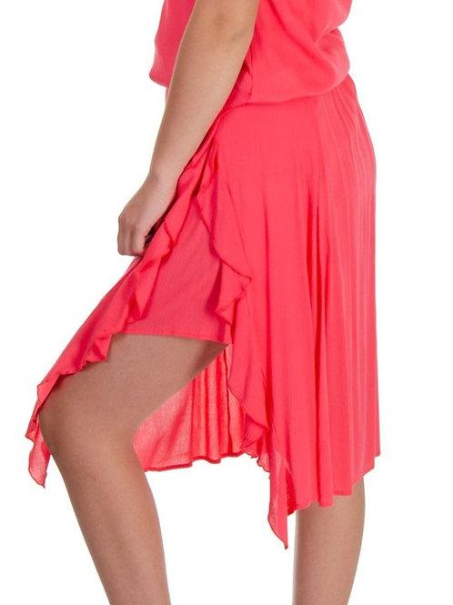 Esqualo / Skirt viscose ruffle