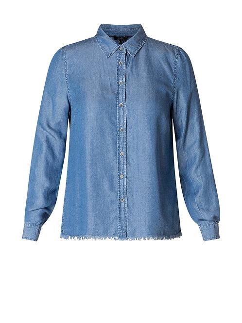 Yest Mid-Blue Denim Button Up
