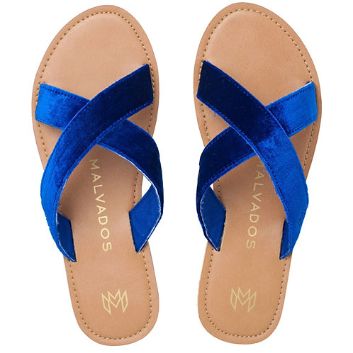 Malvados  Icon Neko Plush Sandals in Blue