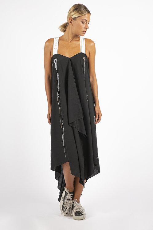 Elisa Cavaletti Cross-Back Midi Dress