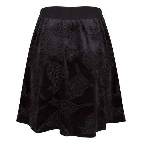 Esqualo / Flock Print Skirt