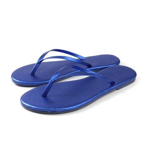 Malvados Lux Reptile Flip Flops in Blue