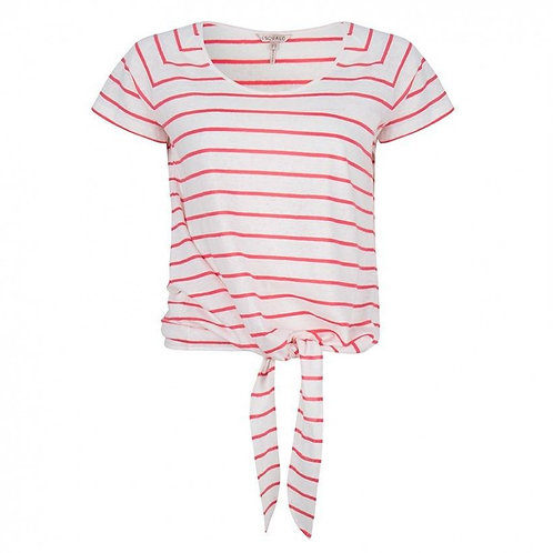 Esqualo / Striped Knotted Top