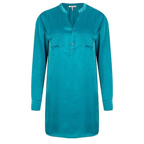 Esqualo Turquoise Satin Tunic
