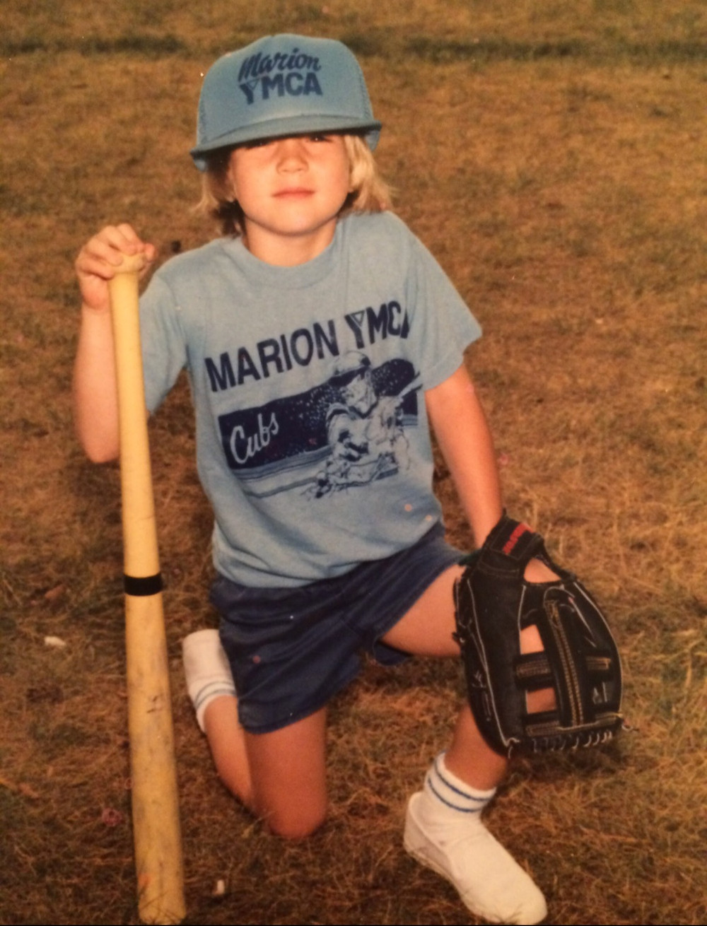 Bex Drate as a small t-ball player.