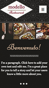 Restaurants & Food website templates – Italian Restaurant
