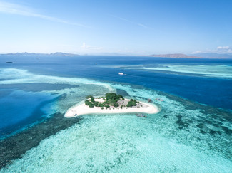 Aerial and drone photography of the Komodo Islands