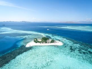 Photo aérienne des Iles Komodo