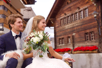 Photo mariage à la montagne