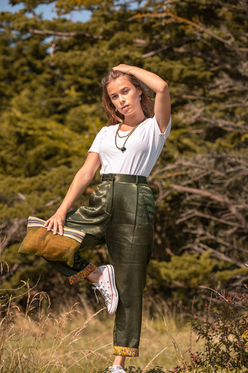 Shooting de mode à la campagne