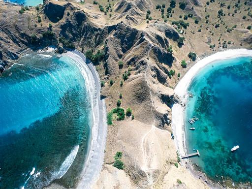 Les Iles Komodo vues du ciel en drone