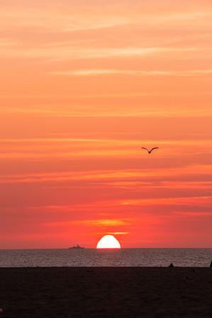 Blazing sunset in Bali