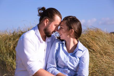 Séance photo couple plage