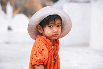 Portrait of a child in Burma