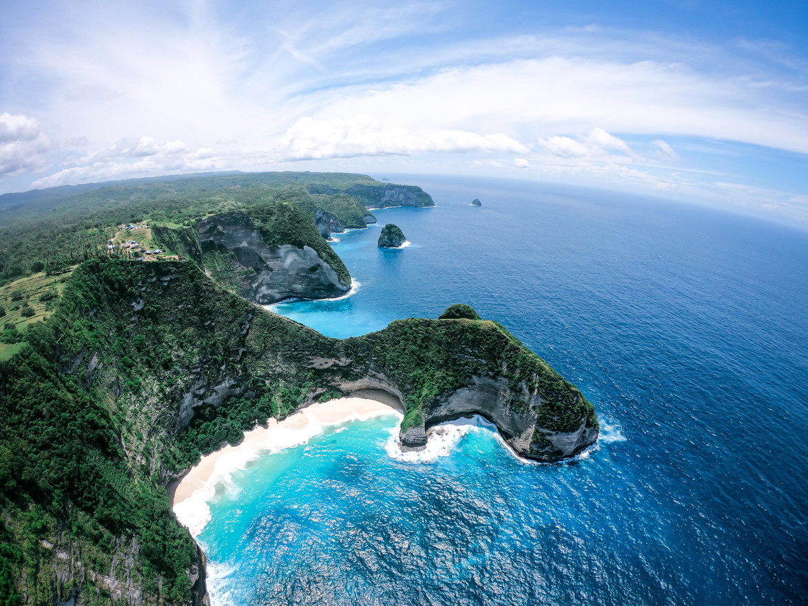 Aerial photo of Nusa Penida - Bali