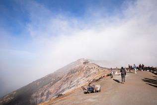 Hike on Ijen volcano
