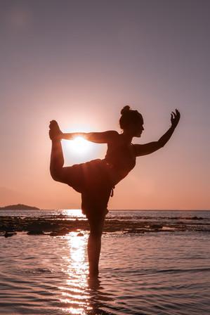 Yoga on the beach in Bali