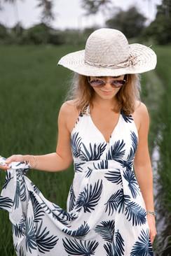 Photo de mode dans les rizières