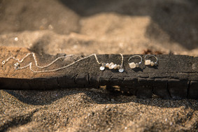 Jewelry and accessories photography at the beach