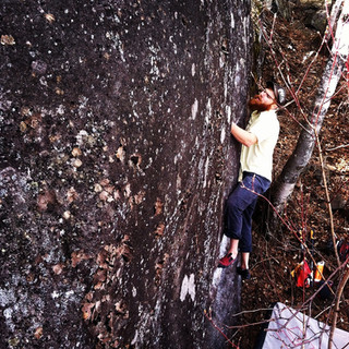 Climber: Ginger Location: Little Foxx Canyon Problem: The Powers That Be Photo by: Kraig Decker