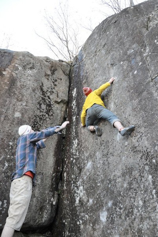Climber: Peter Dodge Location: Little Foxx Canyon Problem: Liber Abaci Photo by: ?