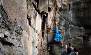 Climber: Eric Enquist Location: Taylors Falls Photo by: Zach Chase