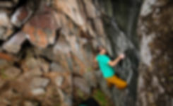 Kraig Decker bouldering in Taylor's Falls, MN