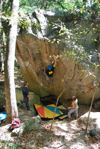 Climber: Kraig Decker Location: Governor Dodge Problem: The Godfather Photo by: Molly Wick