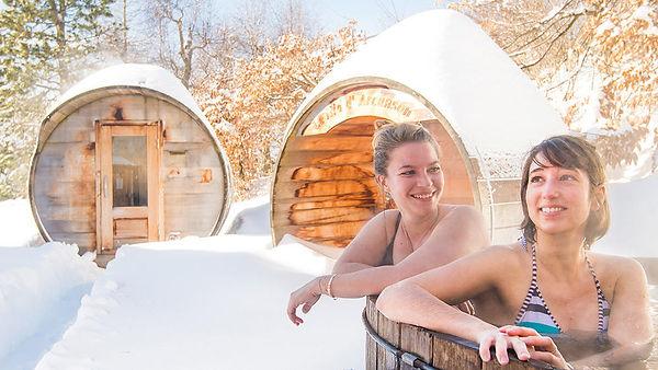 spa et neige et yoga