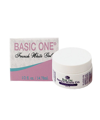 BASIC ONE FRENCH WHITE GEL 0.5OZ