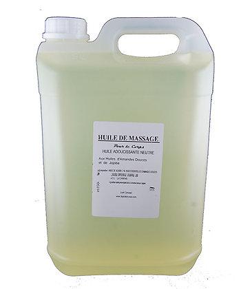 Huile de massage corps adoucissant neutre 1 gallon